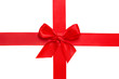 rotes Geschenk-Schleifenband