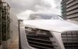 luxury sport sedan car close-up 3d rendering