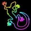 Geko Geco Lizard Psychedelic Neon Light-Geco Psichedelico
