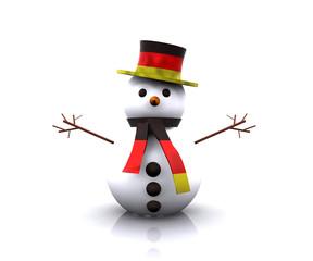 Snowman German - 3D