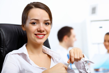 Young businesswoman in the office