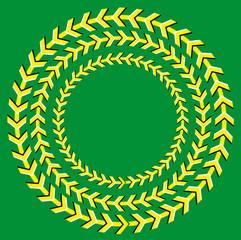Background with the optical illusion of rotation of circles