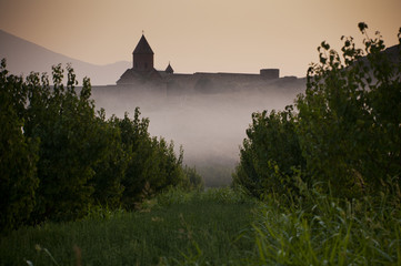 The Khor Virap monastery in the morning