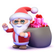 Santa has a big sack full of Christmas presents!