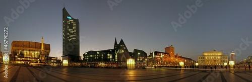 Leinwandbild Motiv Leipzig - Citypanorama