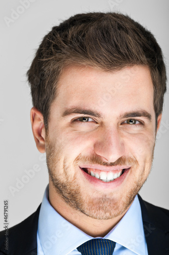 Closeup businessman portrait