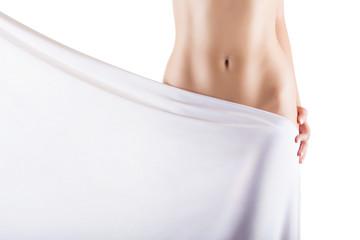 Slim woman's body
