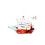 abstract vector ship