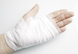Hand bandages with inflammation poster