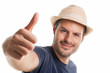 Man with hat and thumb up