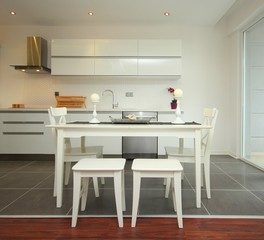 Dinning table at the kitchen