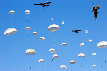 paratrooper dropping