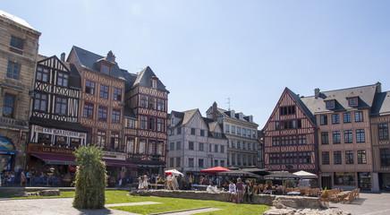Le case a graticcio di Rouen - Francia