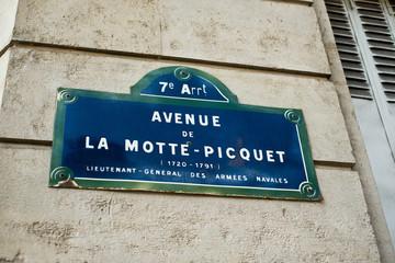 avenue de la motte Picquet à Paris