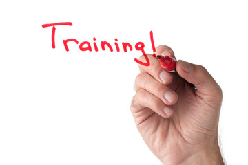 Training - hand writing on white board