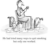 He had tried many ways to quit smoking