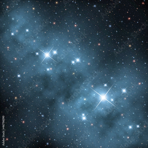 nebula with bright stars