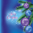 Christmas background with fir-tree branch