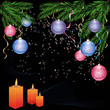 New year and Cristmas background with decorations