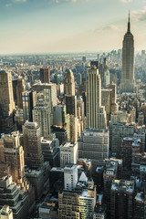 Aerial View of Manhattan in New York City