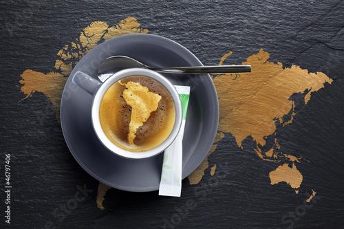 Café du Brésil - Tasse à  Café sur Ardoise