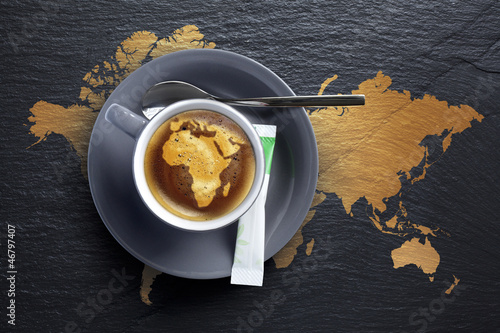 Café d'afrique - Tasse à  Café sur Ardoise