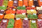Confectionery shop in Boqueria market, Barcelona poster
