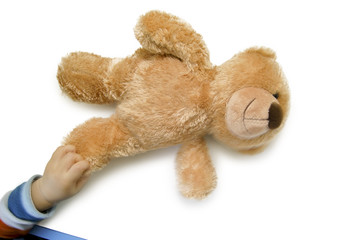 Teddy mit Kinderhand