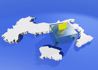 Elezioni Italia voto cartina 3d