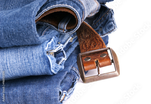 Jeans and Belt Isolated