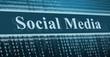 Binary code, social media concept