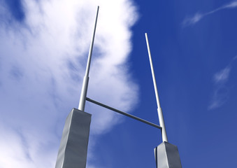 Rugby Posts Perspective