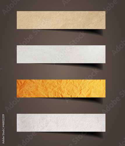 Paper stick with detailed shadow, vector illustration template