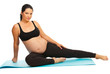 Beauty pregnant doing exercises