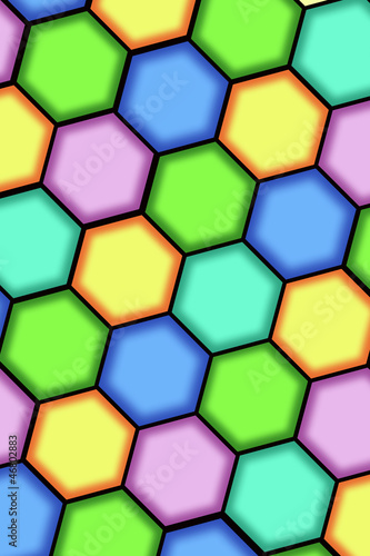 Abstract background from hexagons