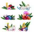 Bright holiday decoration elements