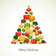 Christmas tree with abstract speech bubbles