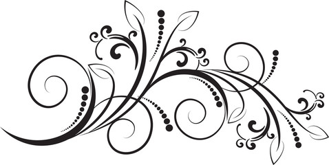 decorative branch - element for design in vintage style