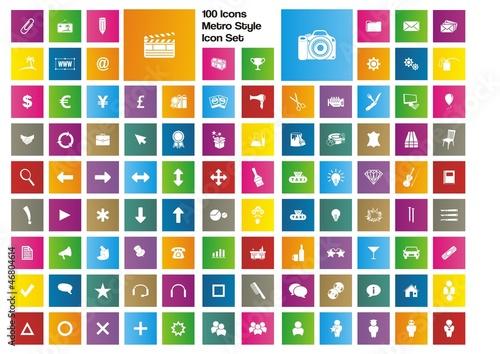 100 icons - metro style icon set