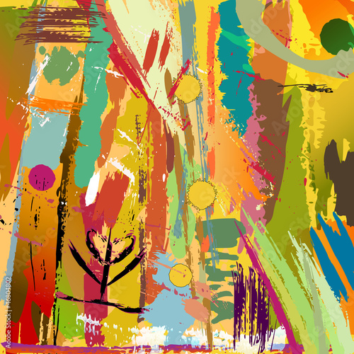 abstract background, with paint strokes and splashes