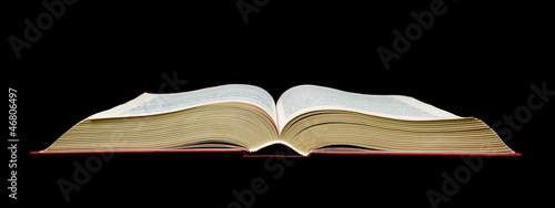 open book - black background