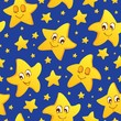Seamless background with stars 2