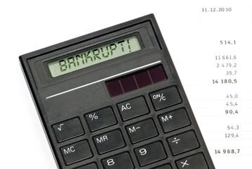 Calculator tells: You are Bankrupt!