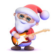 Santa plays some guitar very quietly