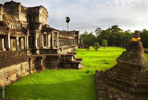 Interior of Angkor. Temple of Angkor Wat