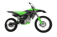 Grün Dirt Bike Seitenansicht
