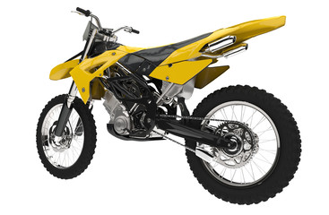 Yellow Dirt Bike