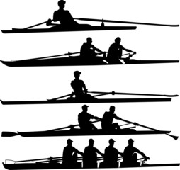 rowing set - vector