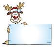 Reindeer behind Board