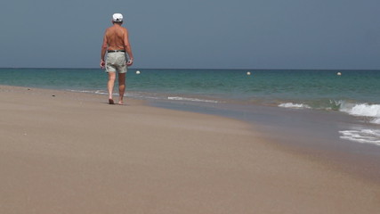Grandpa on Beach
